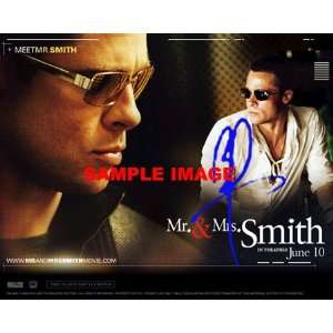 Brad Pitt MR AND MRS SMITH signed COLLAGE poster 2