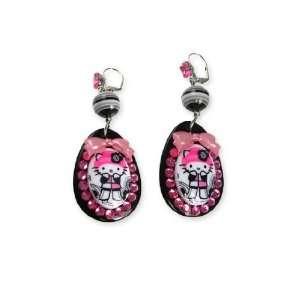 Tarina Tarantino Hello Kitty Pink Head Mod Drop Earrings
