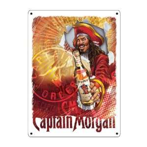 com Captain Morgan Breakthrough Label Bar Metal Sign Home & Kitchen