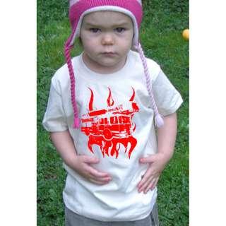 Fire Truck American Apparel Organic Toddler T Shirt