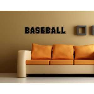 Baseball Vinyl Wall Quotes Stickers Sayings Home Art Decor