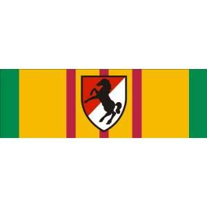 US Army Vietnam Service Ribbon with 11th Armored Cavalry Sticker Decal