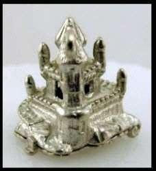 CHIM Vintage ENGLISH STERLING Silver CASTLE Charm SLEEPING BEAUTY