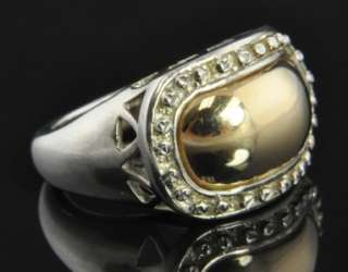Vintage Peter Brams Designs Sterling Silver & 14K Yellow Gold Dome