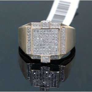 Mens Solid Gold Diamond Ring SVR 5657: Jewelry