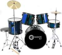 New COMPLETE 5 Piece ADULT DRUM SET CYMBALS FULL SIZE 670541167977