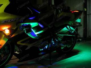 12 RGB 7 Color LED Knight Rider Ground Effect Light Kit For