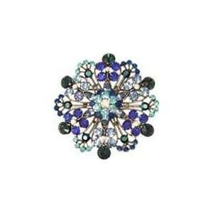 Blue Swarovski Crystal Vintage Style Snowflake Brooch