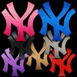 NY Yankees 8 Polished Chrome Auto Window Sticker Decal