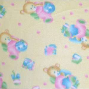 Baby Bear & Toys Yellow Fabric By The Yard Arts, Crafts & Sewing
