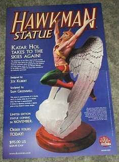 DIRECT HAWKMAN STATUE COMIC BOOK SHOP SUPERHERO PROMO POSTER 1