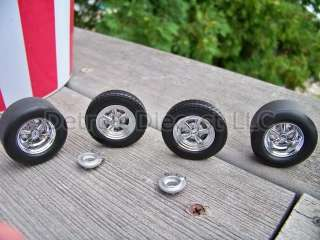 18 Classic American NOS Detroit DieCast Chrome Cragar Wheel Tire Set