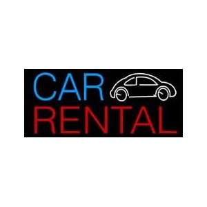 Car Rental Neon Sign 13 x 30 Home Improvement
