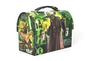 Star Wars Yoda Tin Lunch Box Centerpiece Sandwich Box.