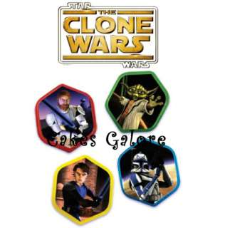 Star Wars Clone Wars Cake Cupcake Ring Decoration Toppers Party 12