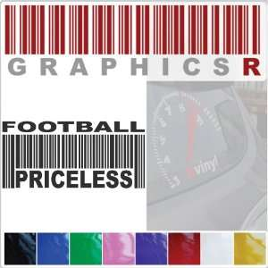 Graphic   Barcode UPC Priceless Football Player Coach Fan A692   Blue