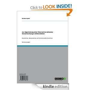 Verantwortung in Unternehmen: Marlene Speth:  Kindle Store