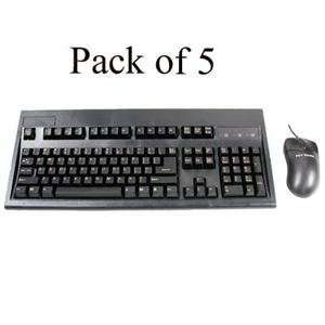: NEW Black PS2 Keyboard/Mouse 5 Pk (Input Devices): Office Products