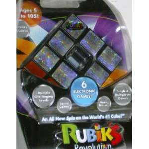 Rubiks Cube Revolution Electronic Game Spin Puzzle Toys