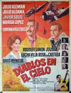 892 Diablos en el Cielo, Mexican Poster, Javier Solis