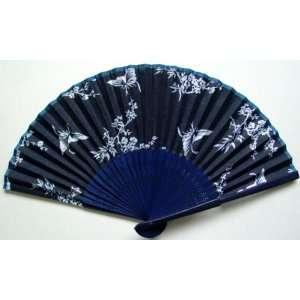 Chinese Art Beautiful Batik Bamboo Hand Fan Butterfly