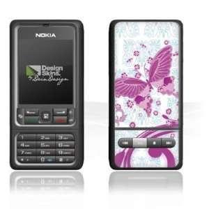 Design Skins for Nokia 3250   Pink Butterfly Design Folie