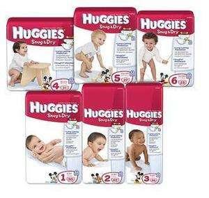 HUGGIES Snug & Dry Diapers Jumbo Pack Long Lasting Protection (Choose