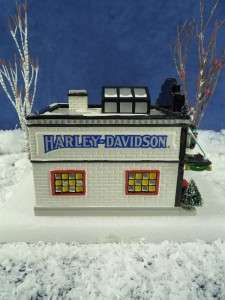 Dept 56 Snow Vil. Harley Davidson Motorcycle Shop (17)