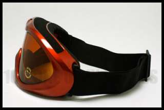 WOLF Snow Board Ski Goggles Anti Fog Double Lens RED Brown Lens Snow