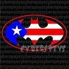 Puerto Rico Batman Stickers Car Vinyl Decals JDM