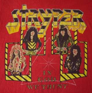 Vintage 1988 Tour T Shirt   Glam Metal Sleaze Rock Concert
