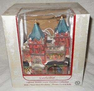 Enchanted Christmas Village Cathedral (Lighted Inside scene