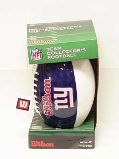 Wilson NFL Team Collectors Official Size Football NY Giants