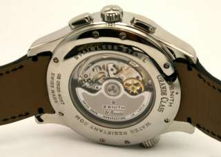 Zenith Grande Class Open Multi City Chronograph NEW $14,000.00 watch