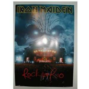 Iron Maiden Poster Live In Rio Concert shot with Clouds