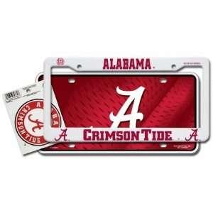 Alabama Crimson Tide Auto Value Pack Plastic Auto Frame, Metal Auto