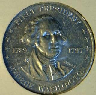Washington Commemorative Mr. President Shell Game Medal   Token   Coin