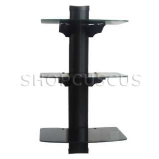 NEW DVD Stereo Components 3 Shelf Wall Mount Bracket Stand Cable Box