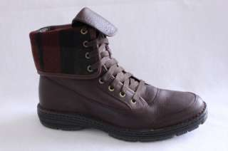 COLE HAAN NIKE AIR SEQUOIA MENS BROWN TUMBLED LEATHER ANKLE BOOT SHOE