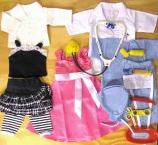 HUGE DOLL CLOTHES LOT fits AMERICAN GIRL DOLLS~NEW #55