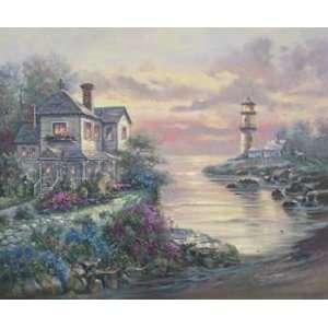 Carl Valente   Light House Point Canvas Home & Kitchen