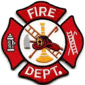 White And Red Fire Dept Logo: Arts, Crafts & Sewing