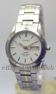 SEIKO MENS SAPPHIRE CRYSTAL 330FT 5YEAR BATTERY WATCH