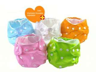 Adjustable 1 Size Reusable Washable Baby Cloth Diaper Nappy /insert