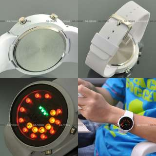 Bright LEDs Display Cool Mens Sport Quartz Wrist Watch