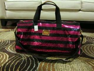 Victorias Secret Fashion Show Bling Sequin Duffle Travel Tote Bag by