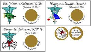 Doctor Nurse Mediacl Scratch Off Tickets Personalized Party Favors