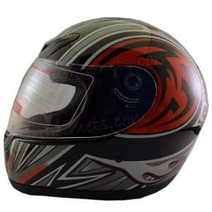 New Dot Adult Red Tribal Full Face Motorcycle Street Helmet FF101 R