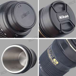 Stainless Steel 11 Nikon 24 70mm Lens tea Coffee Cup Mug + bag DC93