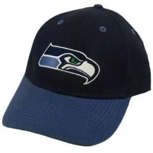NFL SEATTLE SEAHAWKS NAVY BLUE COTTON VELCRO HAT CAP